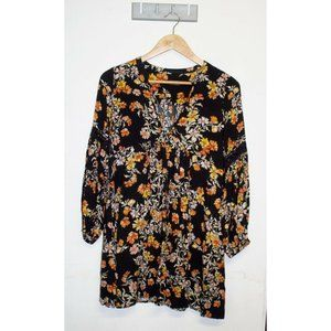 Ally Shift Dress Size 8 Small Floral Print Spring Summer